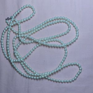 """FAUX PEARL NECKLACE EXTRA LONG 88"""" SARAH COV"""
